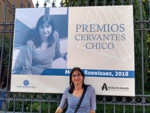 Mónica Rodríguez. Premio Cervantes Chico, 2018